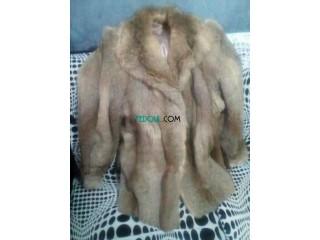 Manteau fourrure naturel du canada