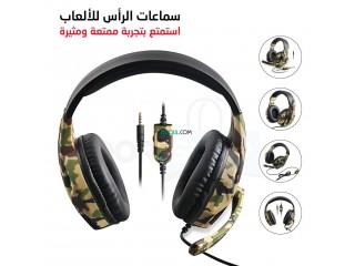 سماعات الرأس الاحترافية المميزة للألعاب مع جودة صوت عالية لإضافة المتعة والحماس إلى لعبتك Gaming Headset FOR PS4/Xbox/Pc
