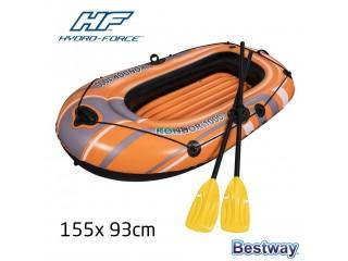 قارب متين قابل للنفخ لشخص واحد مع مجادف طويلة لاستمتاع بأجواء الصيف ومتعة البحر