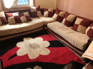 Fauteuil + tapis+ rideau