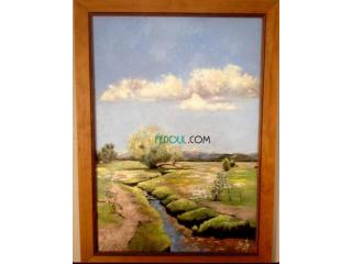 Peinture a l huile sur toile paysage