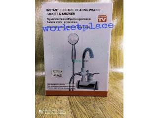 جهاز تسخين المياه الكهربائي السريع مع حنفية + مرش الدوش instant electric heating water faucet&shower