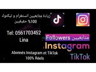 Abonnés Instagram et TikTok