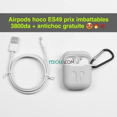 airpods-hoco-es49-original-prix-imbattables-3800da-antichoc-gratuit-big-0