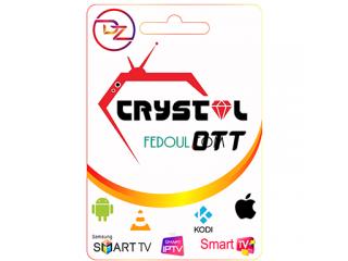 Crystal OTT IPTV Abonnement 1 / 3 / 6 / 12 MOIS