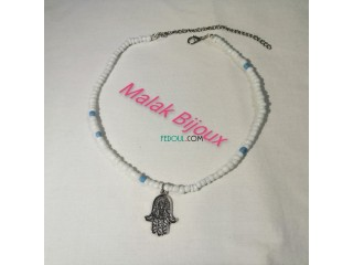 Collier de perles Khamsa