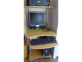 Bureau pour ordinateur et imprimante