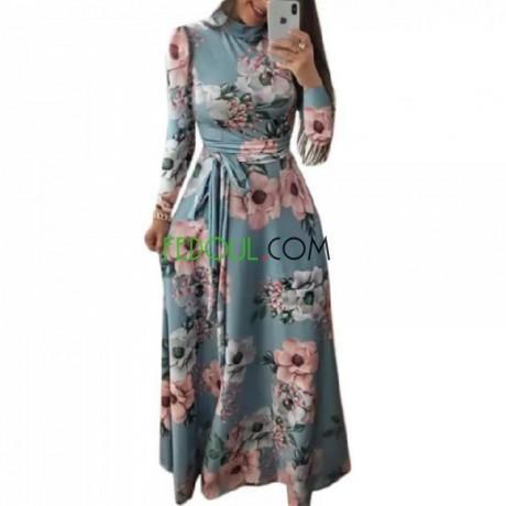 robe-automne-et-hiver-col-haut-a-manches-longues-big-0