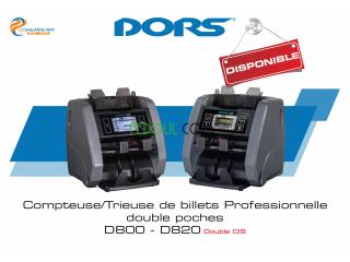 Compteuse et détecteuse de faux billets professionnelle DORS D800 et DORS D820