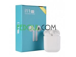 TWS i11 Écouteurs Sans Fil Bluetooth V5.0 Pour iOS et Android