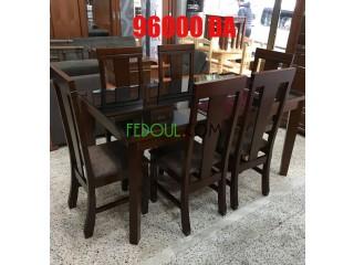 Table salle a manger en hêtre 6 chaises