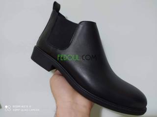 Demi boots pour homme en cuire véritable