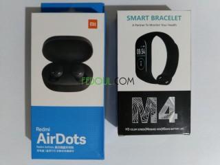 Promo. Pack . (Airdots + smart bracllet m4 )