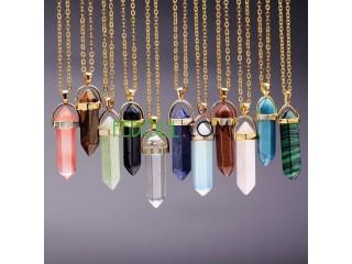 Collier chaîne cristale