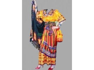 Robe kabyle brodée à la main
