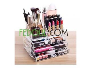 Organisateur De Maquillage - A 3 Tiroirs - Transparent التوصيل مجاني