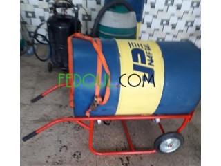 Chariot chantier à fût pour le stockage et le déplacement de fûts métalliques de 220 litres