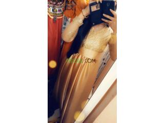 Robe de soirée beige