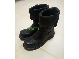 Boots vrai cuire